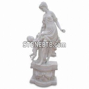 White marble sculpture, handcrafts