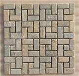 beige color mosaic pattern