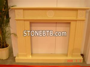 Limestone Carved Fireplace 7