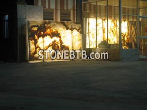 backlit onyx glass panel