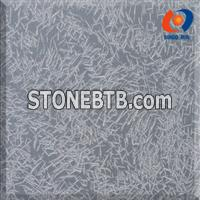 Black Mongolia Tile with Ice Flower Finish