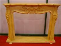 Golden Yellow Marble Fireplace 9