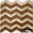Noce Honed Travertine Mosaic K8