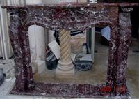 Rosso Levanto Marble Fireplace