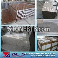 G664 granite tile and G562 stone stairs