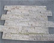 Split beige travertine wall stone
