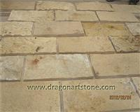 Beige split cultured travertine stone veneer for exterior wall