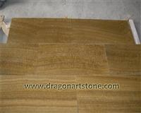 Yellow wood grain polished onyx flooring tile