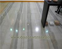 Chinese beige polished marble flooring tile