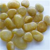 Polished Yellow Pebble Stone