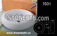 Circular bathroom sink