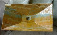 Yellow Stone Sink,Marble Sink