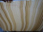 Translucent Honey Wooden Vein Onyx Glass Panel