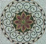 Pebble Stone Mosaic Medallion
