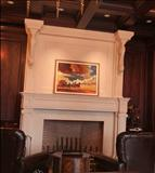 Fireplace with Creme Moleanos