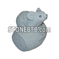 Grey Granite Stone Carved Sculpture
