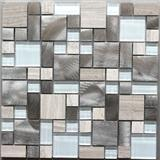 2016 Mixed Color Glass And Stone And Metal Mosaic For Exterior Wall Decoration