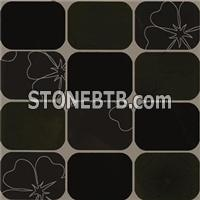 Black And White Ceramic Wall Tile