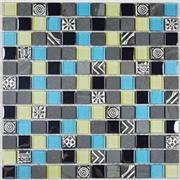 Bathroom Wall Decor Crystal Glass Mix Resin Mosaic