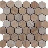 Hexagon Grey Stone Marble Mosaic Tile
