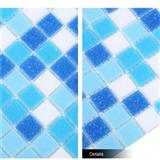 Waterproof Hot-Melting 20x20 Swimming Pool Tile Glass Mosaic