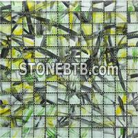 Hand Painting Glass Mosaic Crystal Glass Mosaic Tile