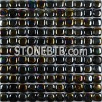 Noble Design Glass Wall Tile Bread Shape Mosaic