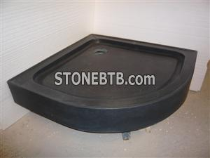 Black Granite Bathroom Shower Tray/Black Stone Shower Tray