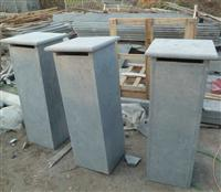 Honed Blue Limestone Mailbox