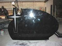 Mongolian Black Granite Grave Headstone
