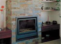 Fireplace with China Multicolor Slate