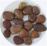 Red decorative pebble stone