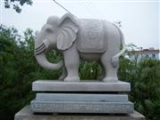 G603 granite elephant carving