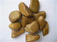 Yellow Wooden Pebble Stone