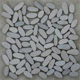 White pebble stone mosaic