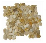 Yellow flat pebble tile