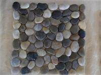 Bathroom pebble mesh tile