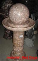 Agate Red Marble Ball Fountain