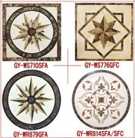 Marble Medallion/ Inlay-- Emperador,Cream Marfil, Nero Marginue