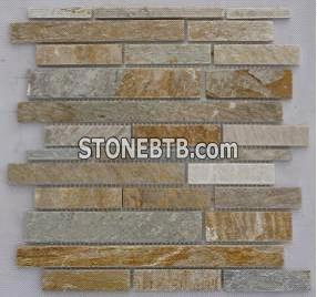 Slate Veneer - yellow wooden