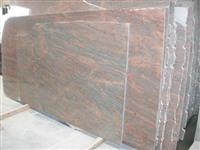 Granite Slab Multicolor Red