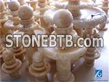 Fengshui Ball Onyx Fountain,China Yellow Onyx Fountain Ball,Fortune Ball