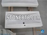 Chinese White Marble Basins&Sinks,Solid Surface White Marble Bathroon Or kitchen Rectangular Sinks