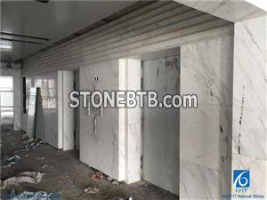 Volakas White Marble Tiles & Slabs, White Marble Stone for Wall, Flooring, Cut-to-size Covering, Patterns