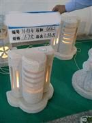 Granite Lantern With LED Light