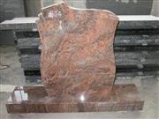 Multicolor red granite tombstone