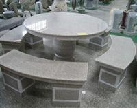pink granite table & chair