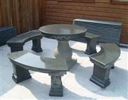 granite table and chair