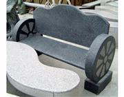 garden granite table and chair