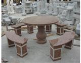 marple red granite table